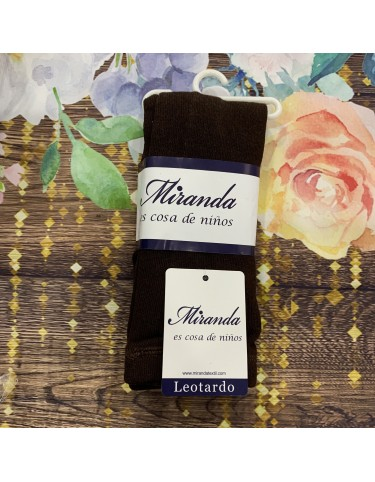 Leotardo liso marron chocolate